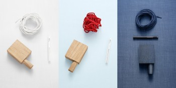 Ready Made Curtains (Non-Woven) von Kvadrat in hellblau