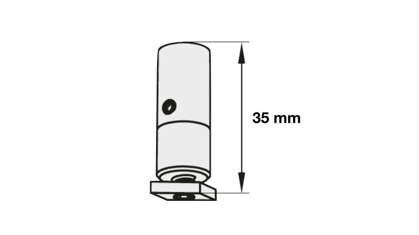 Deckenhänger für Rundrohrschiene Modell 440, 865, 700, 820 Artikelbild