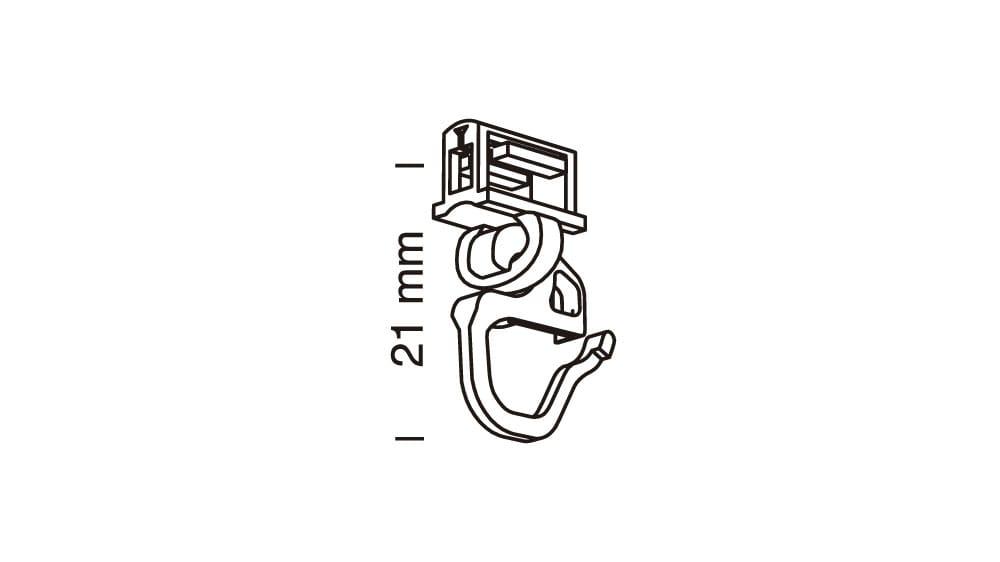 Clic Gelenkgleiter mit kurzem Haken weiß 6 mm Artikelbild