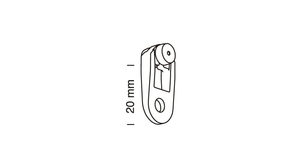 Metallhaken/Roller mit Stahlachse Artikelbild