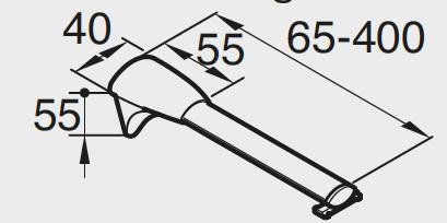 Universalflexiträger mit Nutstein 65 - 400 mm Artikelbild