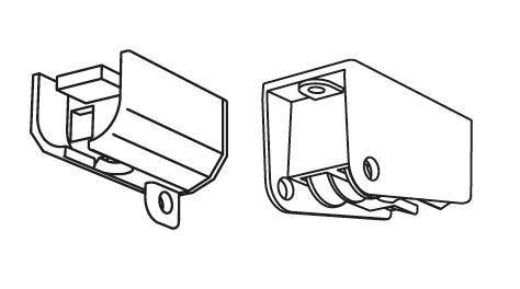 Um-Ablenker Paar für Modell 510 in weiß