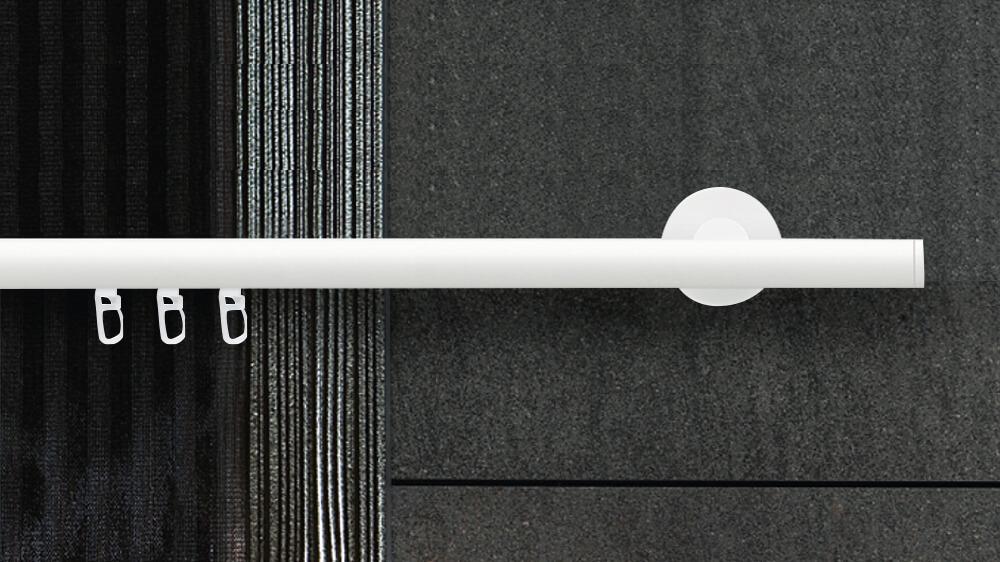 Mono (1-läufig) weiß mit passenden Träger und Gleiter Artikelbild