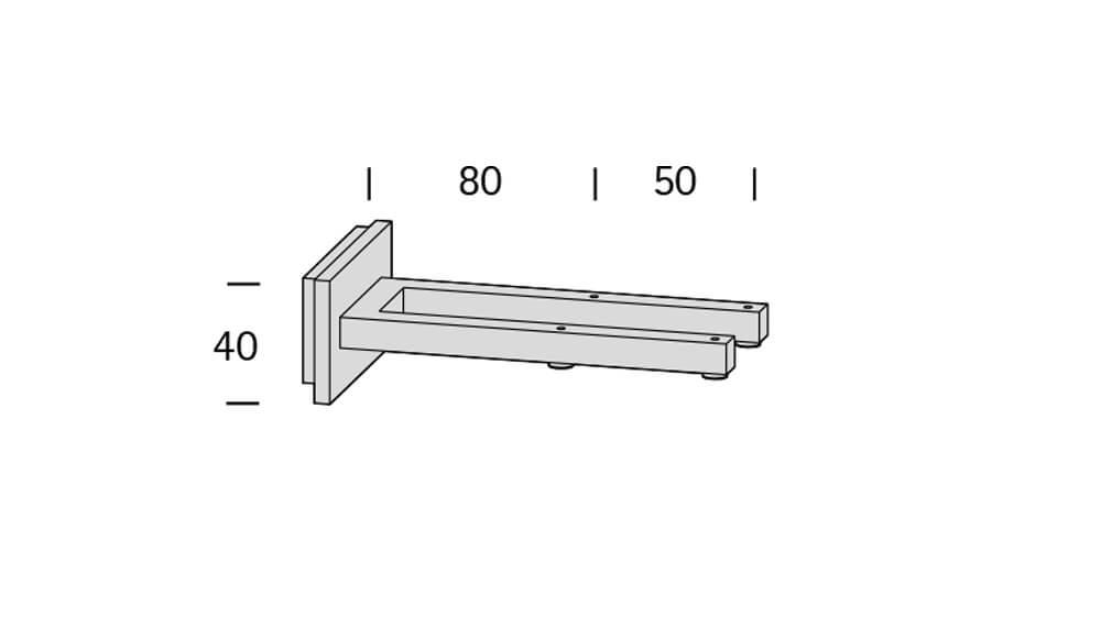 Codex (2-läufig) chrom mit passenden Träger und Gleiter Artikelbild