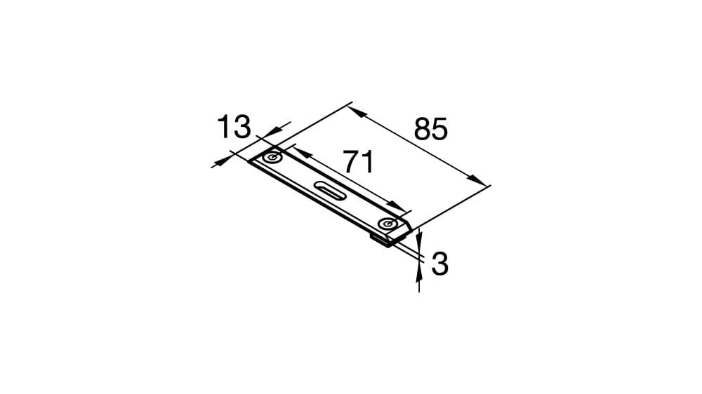Deckenträger 2-läufig 50 mm Laufabstand