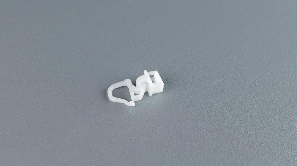 Clic Gelenkgleiter mit kurzem Haken weiß 6 mm