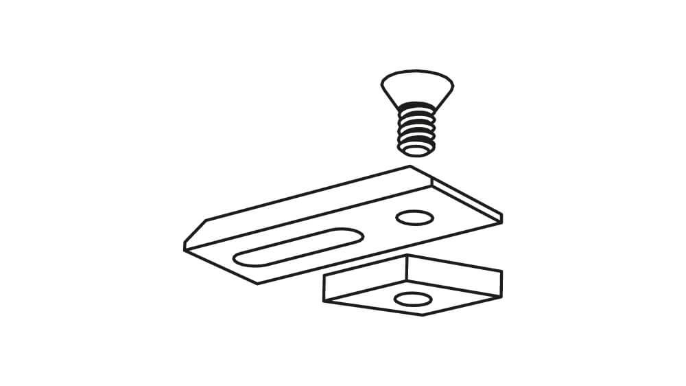 Deckenhalter für Modell 845 in weiß Artikelbild