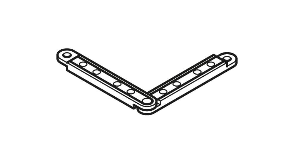 Eckverbinder 6mm für Schiene Modell 876/877 Artikelbild