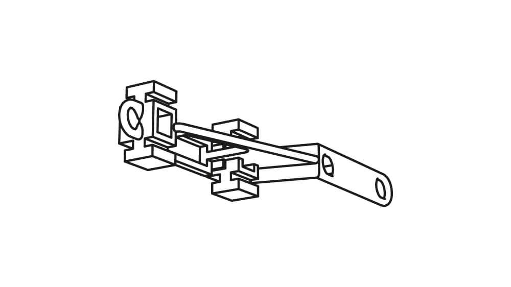 Überlaufwagen Kunststoff für Vorhangschienen Artikelbild
