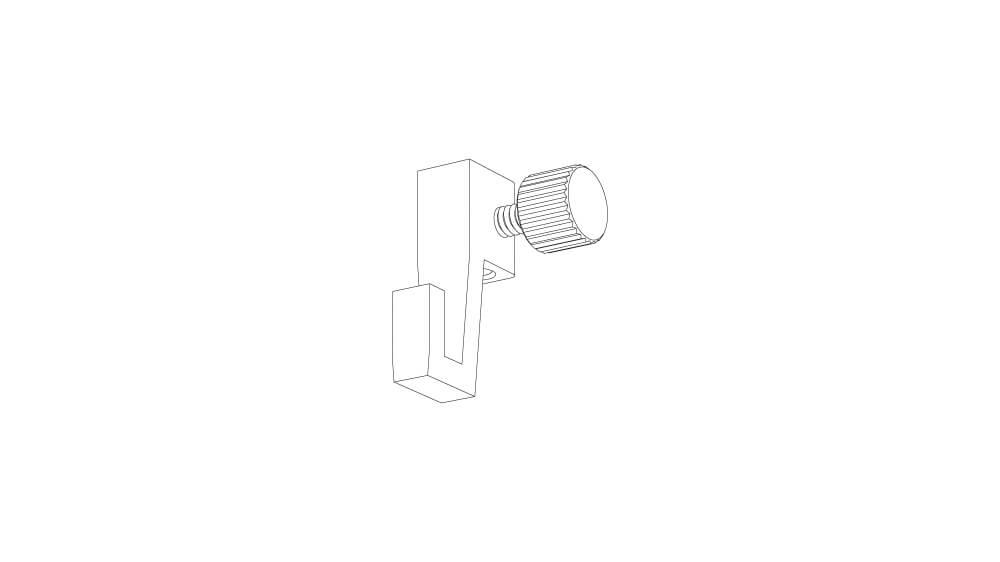 Verstellhaken für Perlonschnur oder Stahlseil