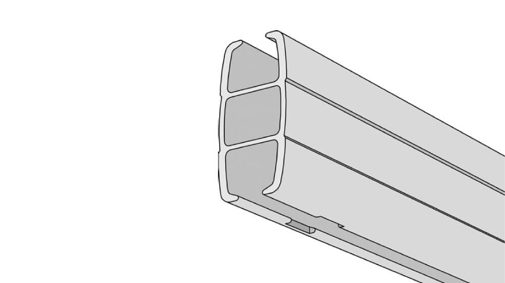 Raumtrennschiene / Duschgarnitur Modell 390RT