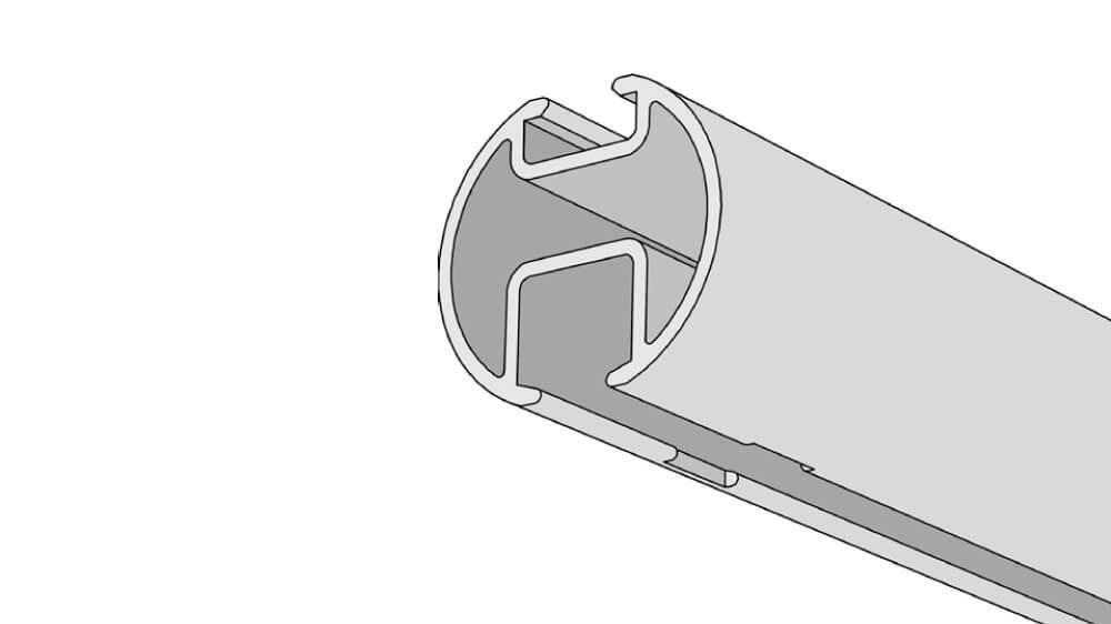Raumtrennschiene / Duschgarnitur Modell 865RT