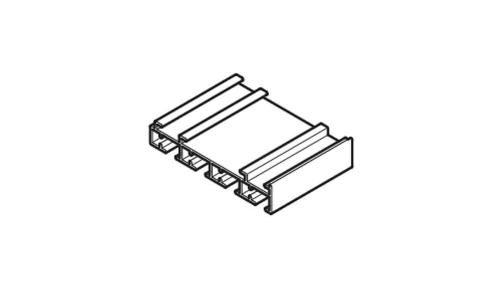 Flächenvorhangschiene mit Schnurzug - 4läufig - Modell 220 Artikelbild