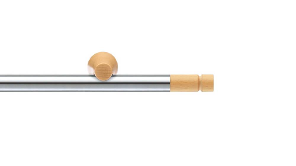 Alant (2-läufig) edelstahl/echt buche mit passenden Trägern und Gleitern