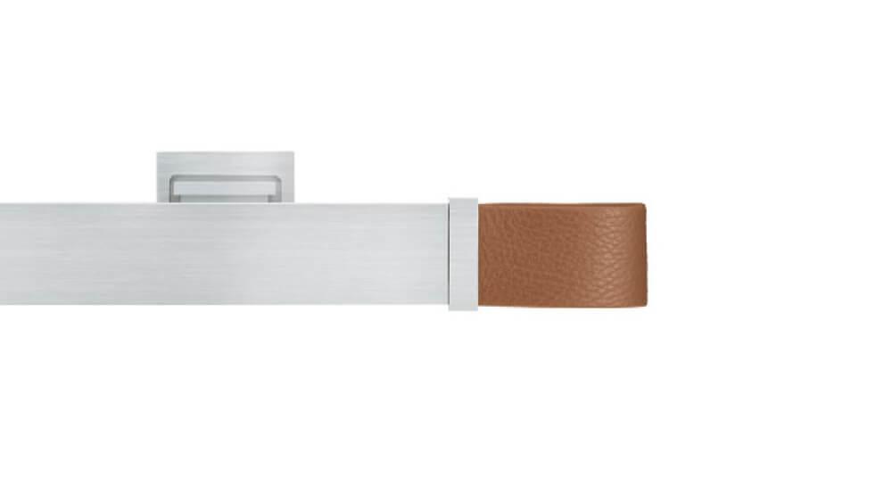 Ambition (1-läufig) Aluminium/Cognac mit passenden Träger und Gleiter