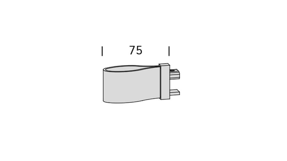 Ambition (1-läufig) Aluminium/Braun mit passenden Träger und Gleiter Artikelbild