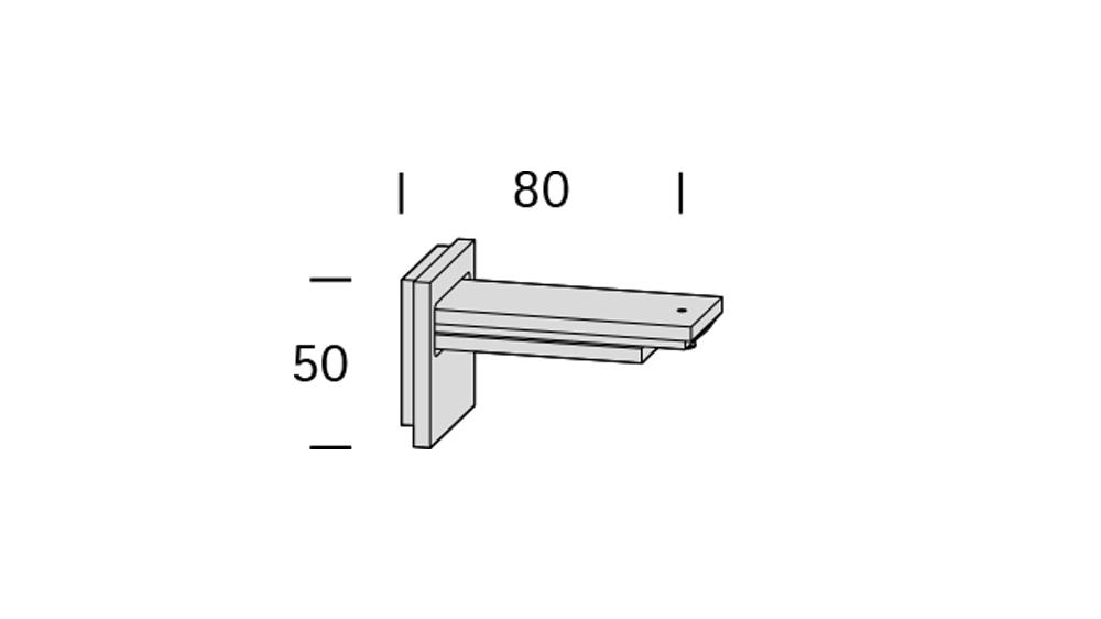 Ambition (1-läufig) Aluminium/Braun mit passenden Trägern und Gleitern Artikelbild