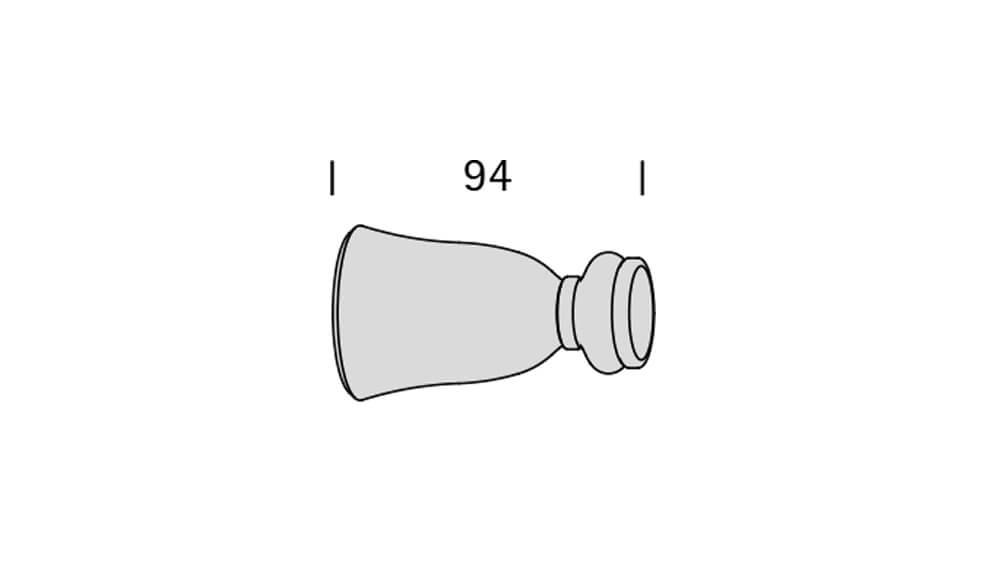 Interstil Cannes (2-läufig) weiß lackiert mit passenden Trägern und Gleitern Artikelbild