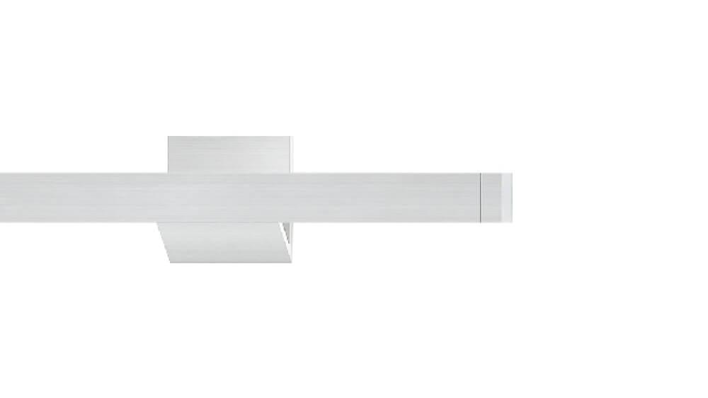 Compact 2 (1-läufig) aluminium mit passenden Trägern und Gleitern