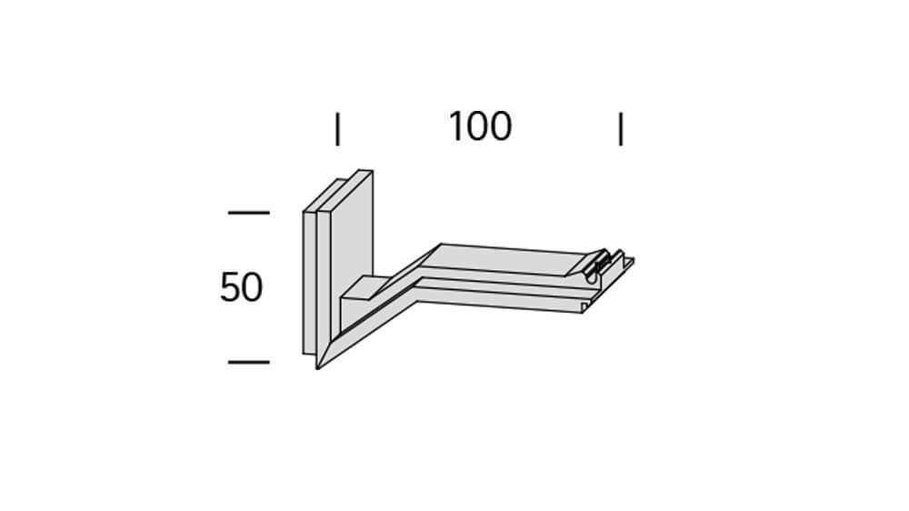 Compact 2 (1-läufig) aluminium mit passenden Trägern und Gleitern Artikelbild
