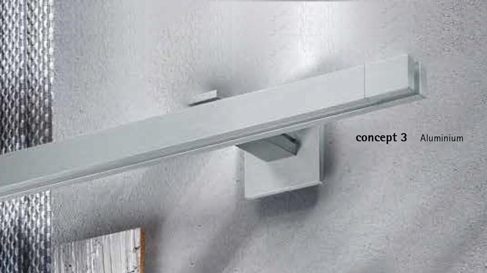 Concept 3 (1-läufig) aluminium mit passenden Träger und Gleiter Artikelbild
