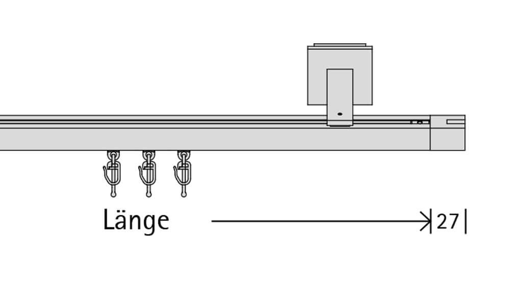 Concept 3 (1-läufig) anthrazit mit passenden Träger und Gleiter Artikelbild