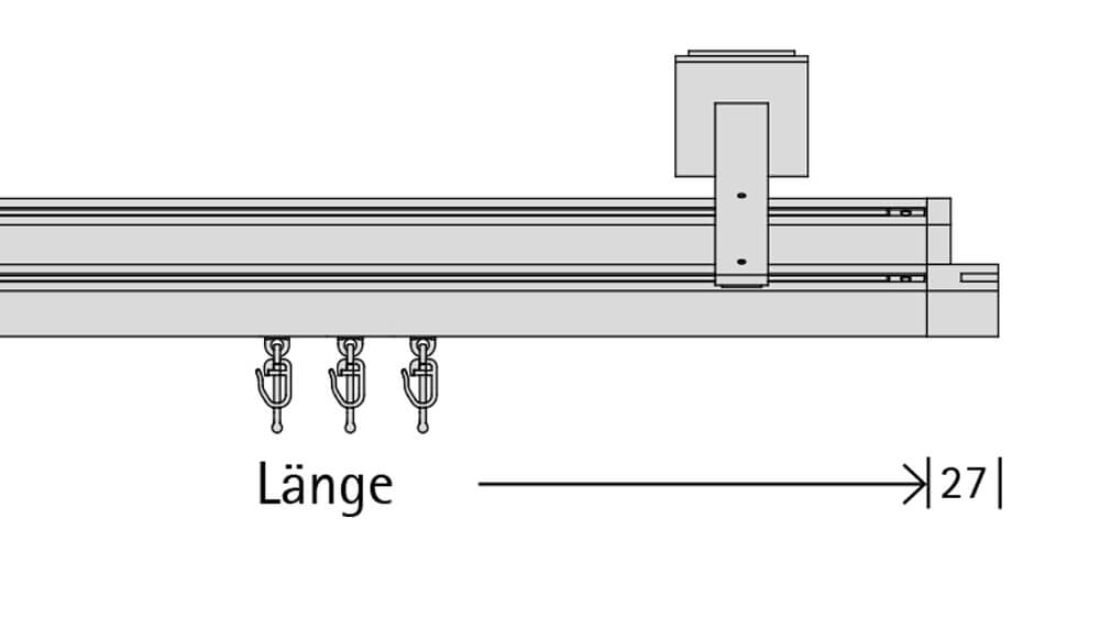 Concept 3 (2-läufig) chrom mit passenden Trägern und Gleitern Artikelbild