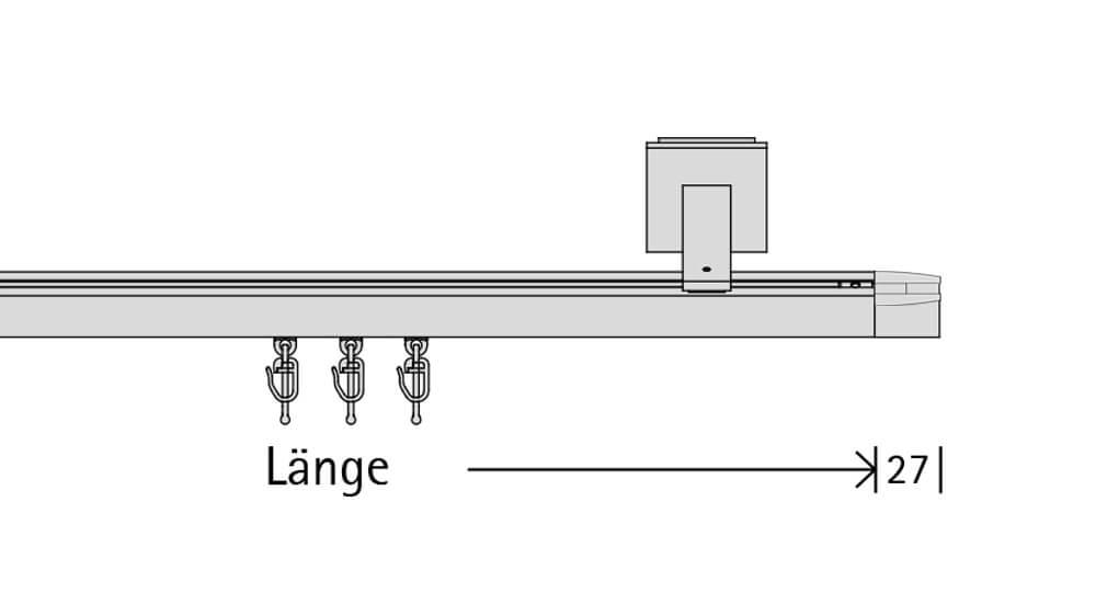 Convex 3 (1-läufig) aluminium mit passenden Trägern und Gleitern Artikelbild