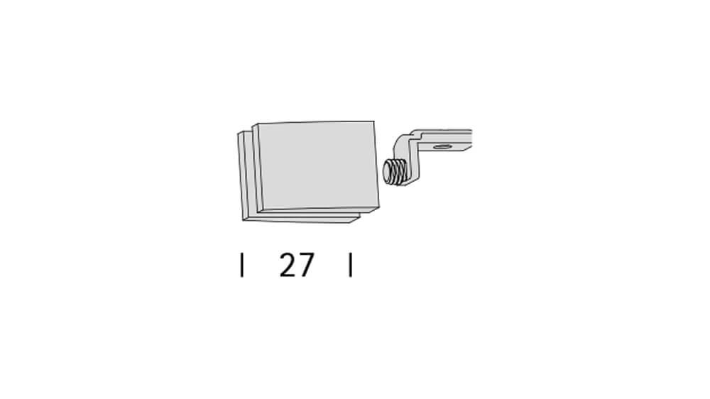 Convex 3 (2-läufig) edelstahl mit passenden Träger und Gleiter Artikelbild
