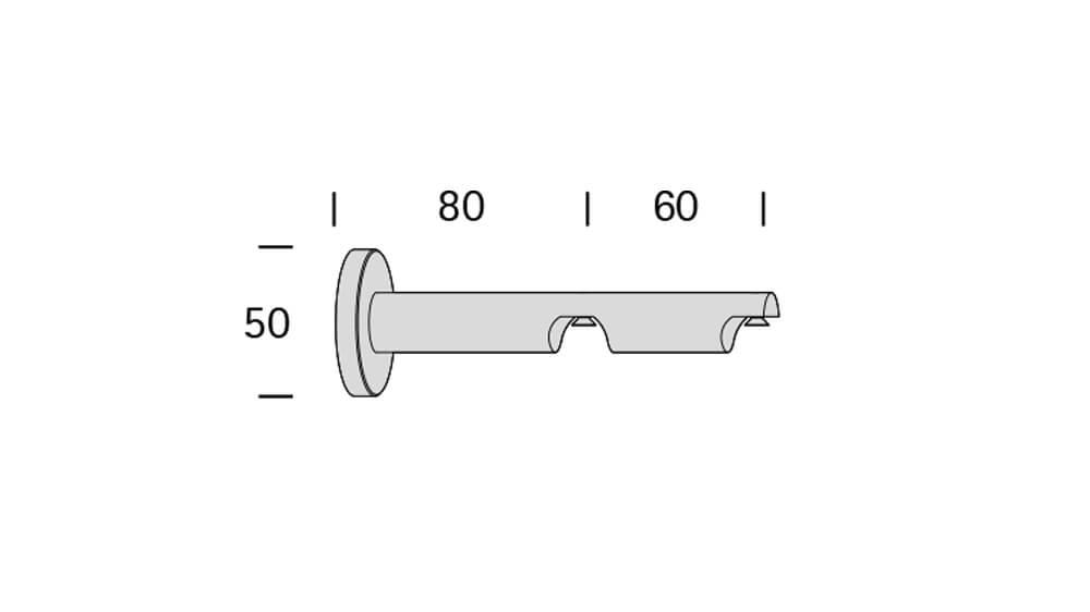 Cosinus (2-läufig) weiß mit passenden Träger und Gleiter Artikelbild