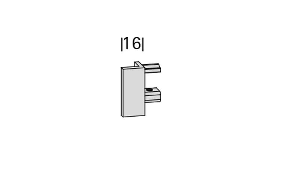 Dimension (1-läufig) aluminium mit passenden Träger und Gleiter Artikelbild