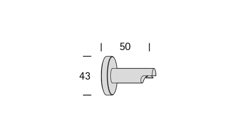 Diplom (1-läufig) aluminium mit passenden Träger und Gleiter Artikelbild