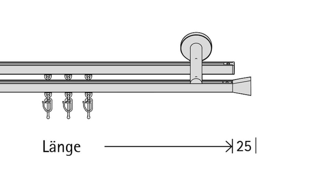 Interstil Diplom (2-läufig) edelstahl mit passenden Träger und Gleiter Artikelbild