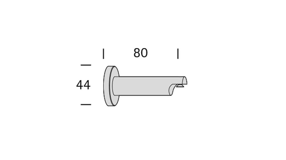 Duett (1-läufig) messing matt mit passenden Träger und Gleiter Artikelbild