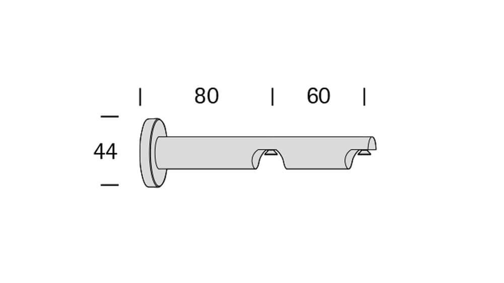 Duo (2-läufig) edelstahl/schwarz mit passenden Träger und Gleiter Artikelbild