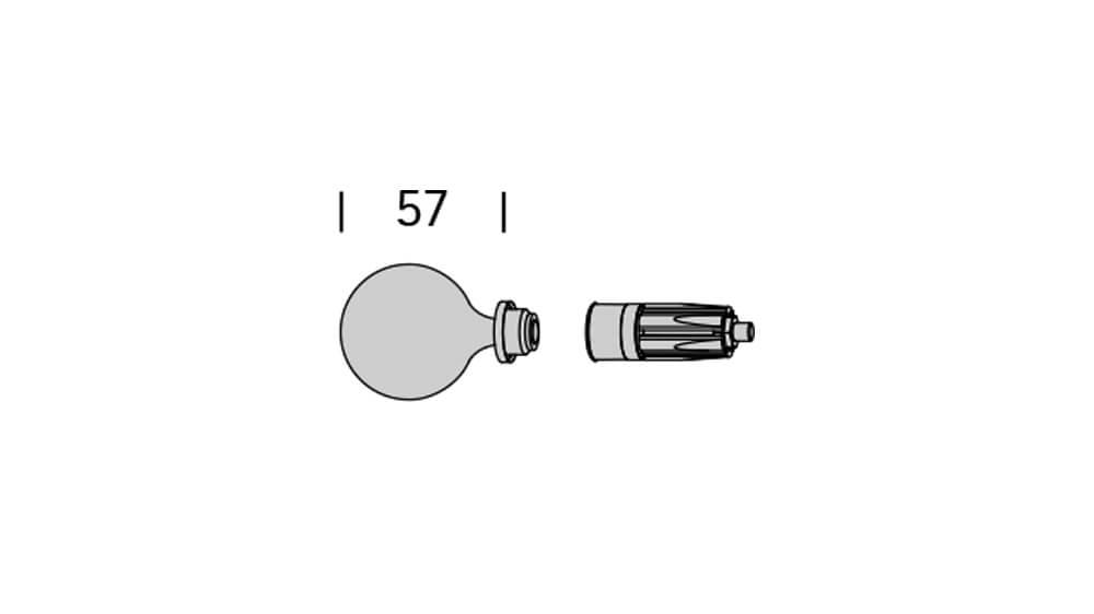 Grazioso (2-läufig) messing mit passenden Träger und Gleiter Artikelbild