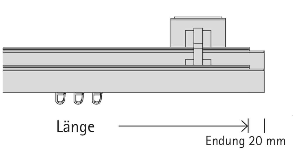 Codex (2-läufig) aluminium mit passenden Trägern und Gleitern Artikelbild