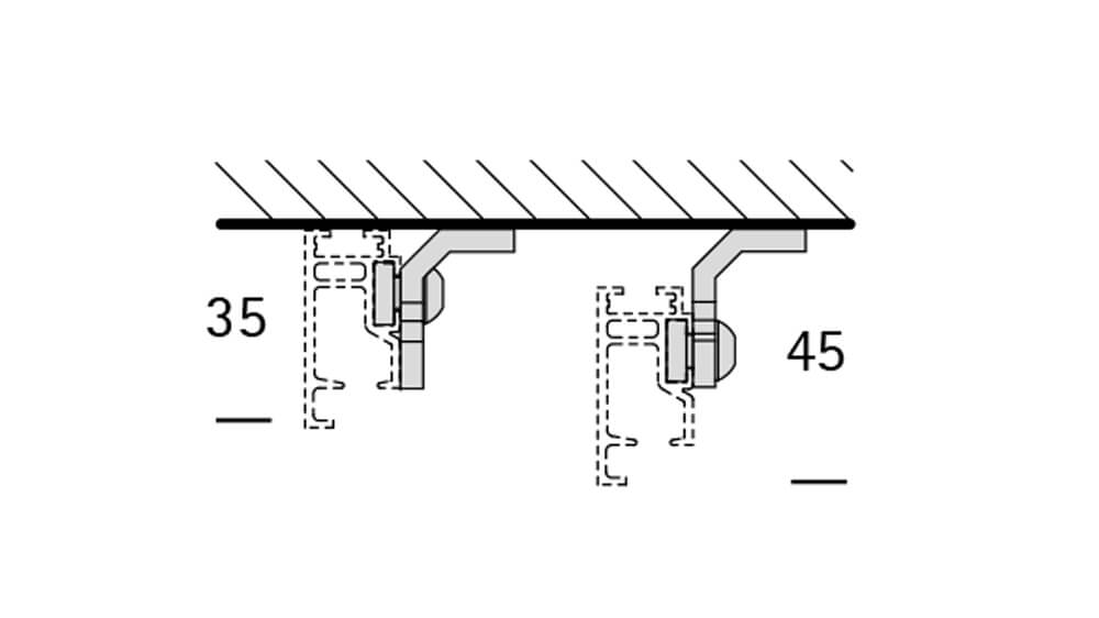 Interstil Sphäre (1-läufig) edelstahl mit passenden Träger und Gleiter Artikelbild