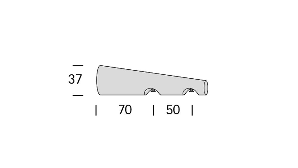 Alant (2-läufig) edelstahl/echt buche mit passenden Trägern und Gleitern Artikelbild