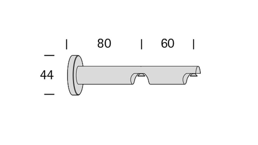 Modus (2-läufig) aluminium mit passenden Träger und Gleiter Artikelbild