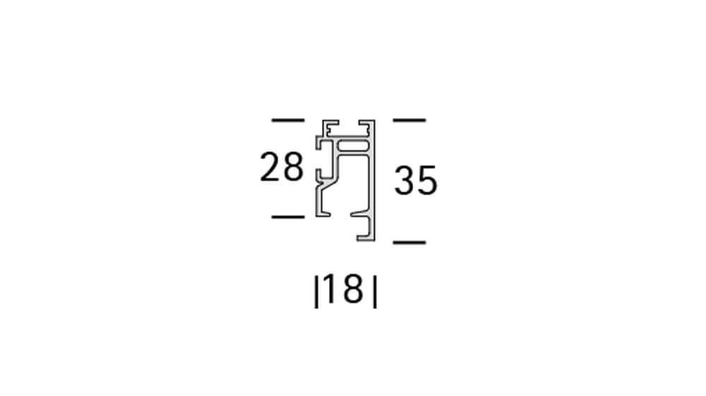 Codex (1-läufig) aluminium mit passenden Träger und Gleiter Artikelbild