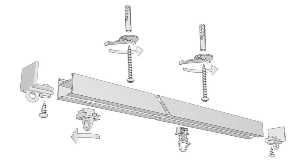 Gardinen / Vorhangschiene zur Schnellmontage Modell 450 Artikelbild
