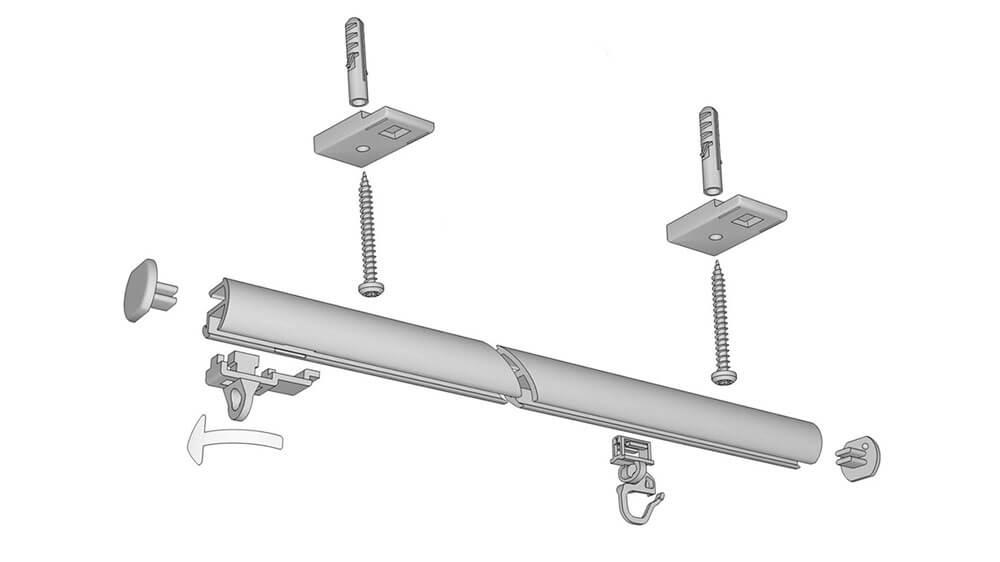Gardinen / Vorhangschiene Modell 545 Artikelbild