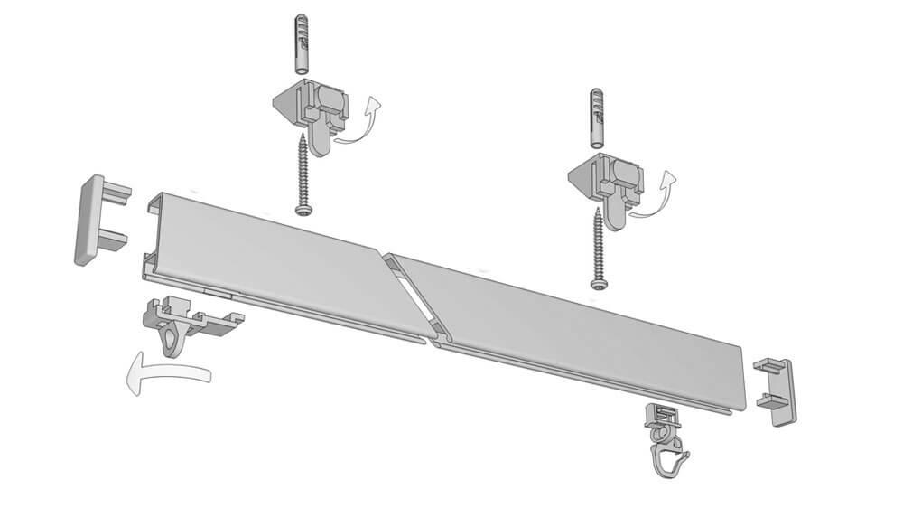 Hochschleuderschiene für die Deckenmontage Modell 550 Artikelbild