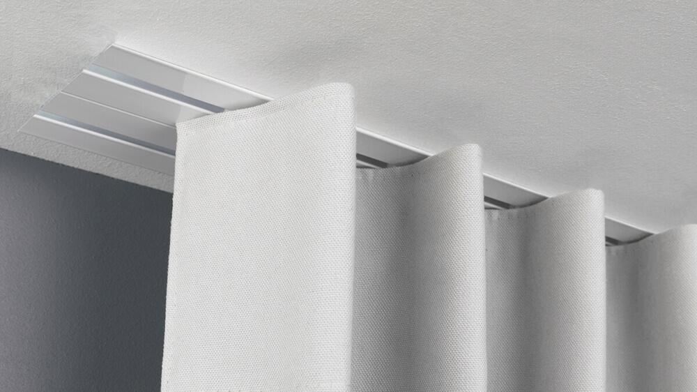 Vorhangschiene zum Einnuten / Unterputz Modell 583