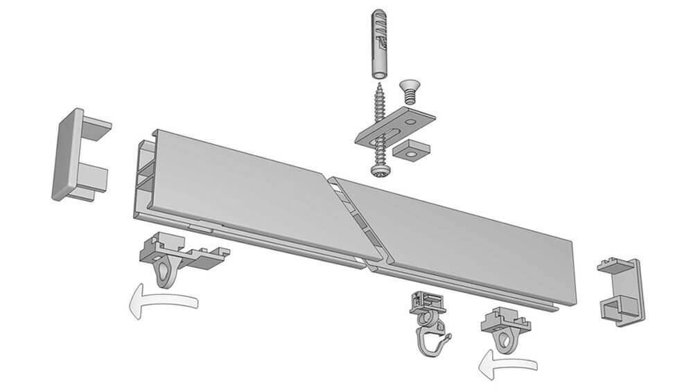 alugard modell 840 tragf hige hochschleuderschiene f r rollereinsatz. Black Bedroom Furniture Sets. Home Design Ideas