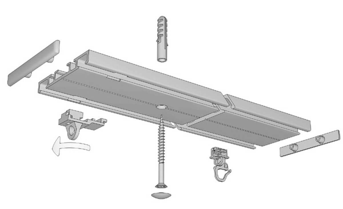 Flachschiene zum Aufschrauben Modell 874 Artikelbild