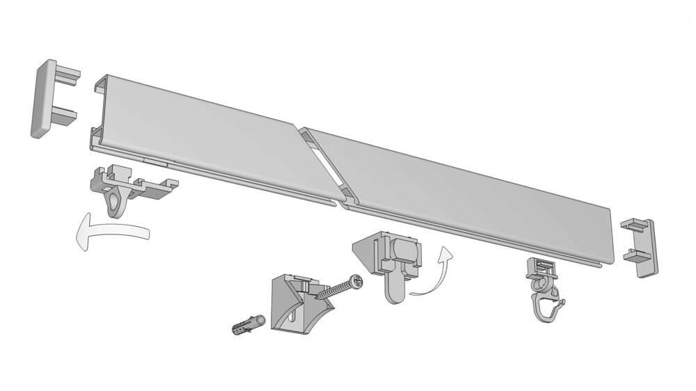 Hochschiene für die Wandmontage Modell 550 Artikelbild
