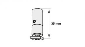 Deckenhänger für Rundrohrschiene Modell 440, 865, 700, 820