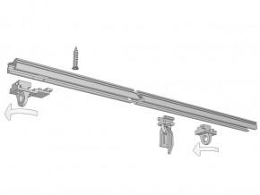 Flache Gardinenschiene zum Aufschrauben Modell 810 (Deckenschiene)